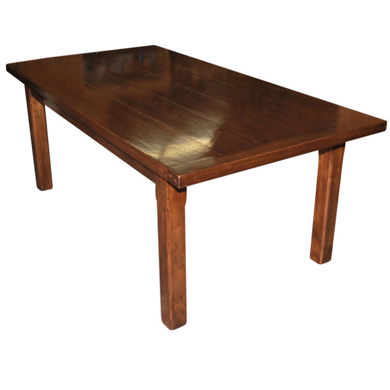 petersen antiques walnut dining table