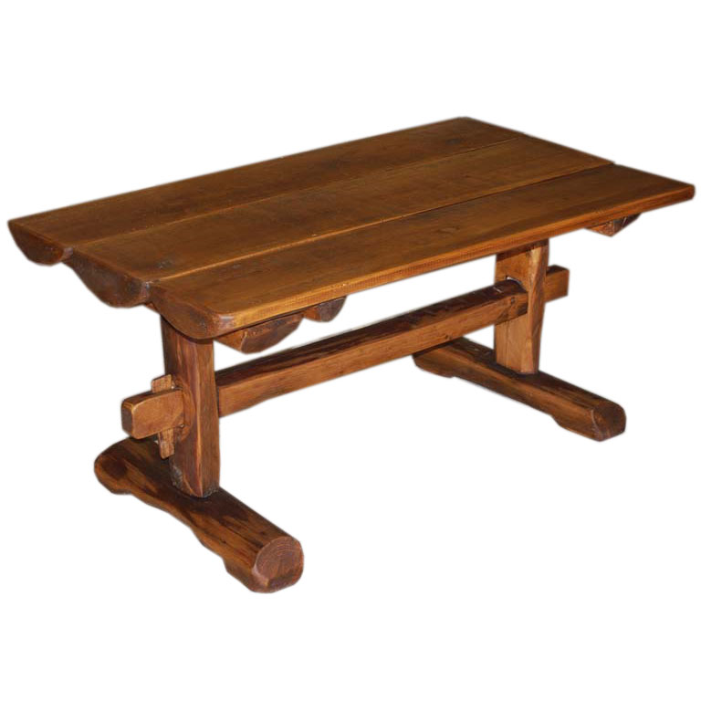 Vintage Wood Coffee Table Nage Designs: Primitive Coffee Table / Side Table