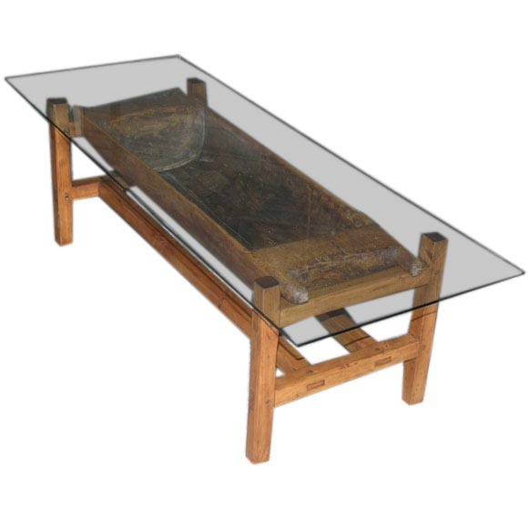 Rustic Antique Doughset Coffee Table