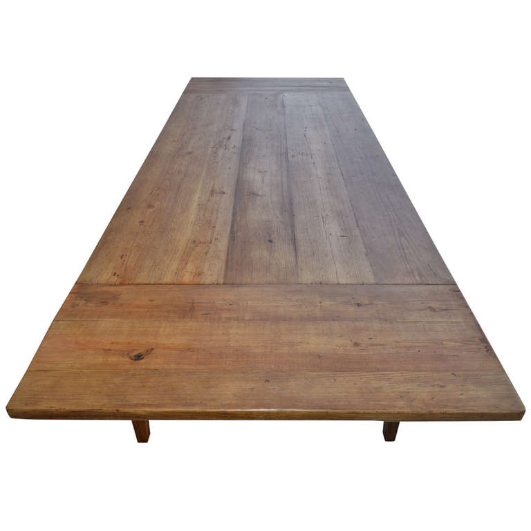 Prime Custom Harvest Table With Extensions Made From Vintage Heart Pine Collapsible Interior Design Ideas Lukepblogthenellocom