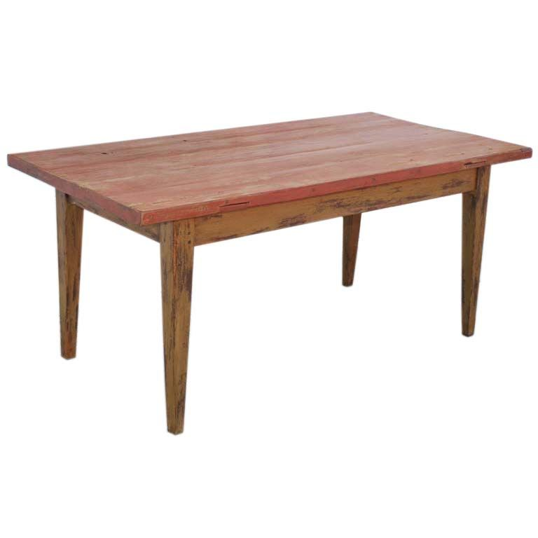 Kaplan Global Trunk Coffee Table Reclaimed Whitewash Large: Painted Farm Table, Reclaimed Antique Wood